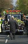 Jade Goody Funeral April 4 2009. TV Reality Star funeral service hearst arrives at St Johns Chuch Buckhurst Hill Essex England.
