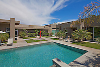 Courtyard garden and pool area of moren luxury home