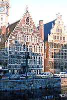 Ghent: Granary on Graslei. Photo '87.