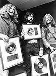 Led Zeppelin 1971 Robert Plant, Jimmy Page and John Paul Jones....