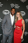 Michael Strahan and Erin Andrews  at FOX Sports 1 celebrates the official Thursday Night Super Bash at Time Warner Cable Studios. Hosts MichaelStrahanand Erin Andrews Superbowl week, NY