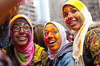 People attend the Holi Hai festival organized by Indian community in New York City March 31, 2013. Photo by Eduardo Munoz Alvarez / VIEWpress.