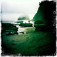 Pacific City, Oregon, looking towards Haystack Rock