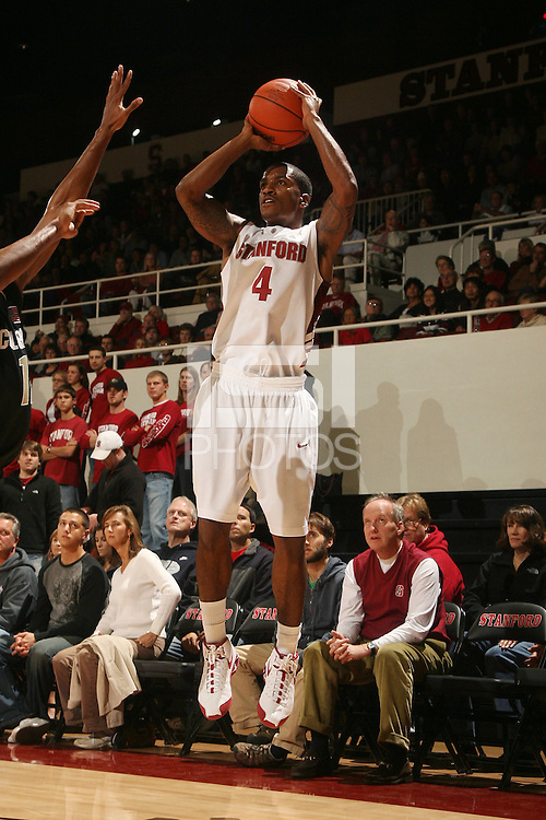 Stanford, CA - NOVEMBER 29:  Guard Anthony Goods #4 of the Stanford Cardinal during Stanford's 76-62 win against the Colorado Buffaloes in the Big 12/Pac-10 Hardwood Series on November 29, 2008 at Maples Pavilion in Stanford, California.