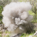 A controlled demolition of ordnance in Basouriah, South Lebanon