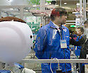 November 9th, 2011 : Tokyo, Japan – A newly invented robot performs during International Robot Exhibition 2011. This show is held to showcase new robots and high technology equipments at the Tokyo International Exhibit Center. International Robot Exhibition 2011 runs from November 9 – 12. (Photo by Yumeto Yamazaki/AFLO)
