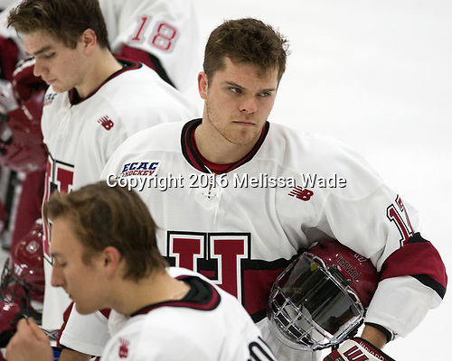 Sean Malone (Harvard - 17) - The Harvard University Crimson defeated the visiting Boston College Eagles 5-2 on Friday, November 18, 2016, at the Bright-Landry Hockey Center in Boston, Massachusetts.