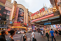 The AMC 25 Theatre and the Regal Cinemas in Times Square in New York on Tuesday, September 6, 2016. This summer saw Hollywood release a record 14 sequels with only four doing better than the original. The first 118 days of summer, a Hollywood studio benchmark, was up 35 from last year. (© Richard B. Levine)