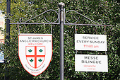 Sign  for Saint-James Anglican Church in Trois-Rivieres, Quebec