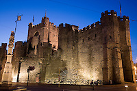 Gravensteen Castle, Ghent; Belgium; Europe