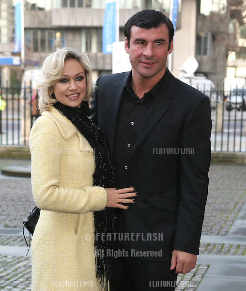Joe Calzaghe and Kristina Rihanoff arriving for Children Of Courage service, Westminster Abbey, London. 09/12/2009. Picture by:   Alexandra Glen / Featureflash