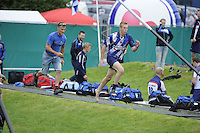 FIERLJEPPEN: WINSUM: Accommodatie St. Japik, 13-08-2016, FK Fierljeppen,  winnaar bij de jongens Hessel Haanstra, ©foto Martin de Jong