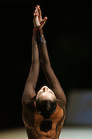Anna Bessonova of Ukraine holds beginning pose during All-Around competition at 2006 Thiais Grand Prix in Paris, France on March 25, 2006.  (Photo by Tom Theobald)