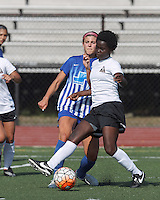 Peabody, Massachusetts - July 16, 2014:  In a Women's Premier Soccer League (WPSL) match, Boston Breakers U-20 (blue) defeated Boston Aztec (white), 2-1, at Bishop Fenwick High School.