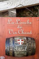 """Europe/France/Rhone-Alpes/74/Haute-Savoie/Megève: Restaurant d'Altitude """"l'Idéal"""" au sommet du Mont d'Arbois détail enseigne"""