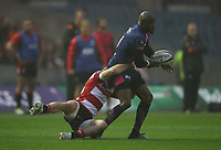 Stade Francais Paris Djibril Camara<br /> <br /> Photographer Rachel Holborn/CameraSport<br /> <br /> European Rugby Challenge Cup Final - Gloucester Rugby v Stade Francais Paris - Friday 12th May 2017 - BT Murrayfield, Edinburgh<br /> <br /> World Copyright &copy; 2017 CameraSport. All rights reserved. 43 Linden Ave. Countesthorpe. Leicester. England. LE8 5PG - Tel: +44 (0) 116 277 4147 - admin@camerasport.com - www.camerasport.com