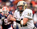 Purdue QB Curtis Painter scores on an 18 yard touchdnown run in the game between Illinois and Purdue November 11, 2006 at Memorial Stadium in Champaign, Illinois.  The Boilermakers defeated the Illini 42 to 31.