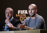 Fussball International  FIFA Ballon d Or / Trainer des Jahres 2012  Pressekonferenz   07.01.2013 Trainer Pep GUARDIOLA (Spanien)
