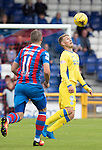 Inverness Caley Thistle v St Johnstone&hellip;27.08.16..  Tulloch Stadium  SPFL<br />David Wotherspoon is closed down by Iain Vigurs<br />Picture by Graeme Hart.<br />Copyright Perthshire Picture Agency<br />Tel: 01738 623350  Mobile: 07990 594431