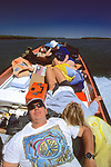 Paco Ollervides, Ladonna Wyatt & Beverly Hinchorek Relaxing On Boat Ride