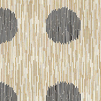 Name: Ikat<br /> Style: Contemporary<br /> Product Number: NRFIKATCIR<br /> Description: 24&quot;x 24&quot; Ikat in Nero Marquina, Saint Laurent, Crema Marfil, Renaissance Bronze (p)