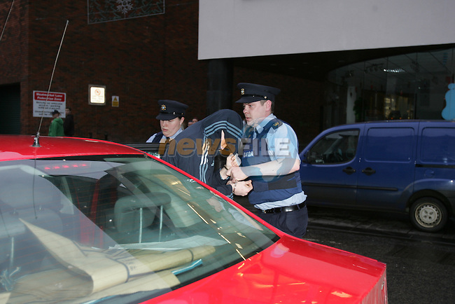 Keith Cunningham from  halpins Tecerace in Drogheda.  after being in Drogheda District court in relation to the killing of Des Kimmins 41 from Drogheda...Photo: Newsfile/Fran Caffrey.