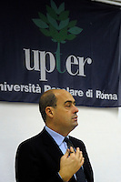 Upter.Inaugurazione sede di Castro Pretorio.Nicola Zingaretti.