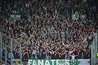 VOETBAL: HEERENVEEN: Abe Lenstra Stadion, 21-10-2012, SC Heerenveen - FC Groningen, Einduitslag 3-0, FC Groningen publiek, ©foto Martin de Jong