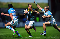 Curwin Bosch of South Africa U20 takes on the Argentina U20 defence. World Rugby U20 Championship 3th Place Play-Off between Argentina U20 and South Africa U20 on June 25, 2016 at the AJ Bell Stadium in Manchester, England. Photo by: Patrick Khachfe / Onside Images