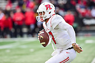 College Park, MD - NOV 26, 2016: Rutgers Scarlet Knights quarterback Giovanni Rescigno (17) in action during game between Maryland and Rutgers at Capital One Field at Maryland Stadium in College Park, MD. Maryland defeated Rutgers 31-13. (Photo by Phil Peters/Media Images International)