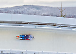 9 January 2016: Anton Batuev, competing for Russia, slides through Curve 14 on his second run of the day during the BMW IBSF World Cup Skeleton Championships at the Olympic Sports Track in Lake Placid, New York, USA. Batuev ended the day with a combined 2-run time of 1:50.89 and an 11th place overall finish. Mandatory Credit: Ed Wolfstein Photo *** RAW (NEF) Image File Available ***