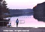 Lake, sunset, Ricketts Glen State Park, Columbia, Luzerne and Sullivan Co., NE PA