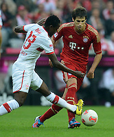 FUSSBALL   1. BUNDESLIGA  SAISON 2012/2013   2. Spieltag FC Bayern Muenchen - VfB Stuttgart      02.09.2012 Mamadou Bah (li, VfB Stuttgart)   gegen Javi Martinez (FC Bayern Muenchen)