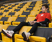 Evan Rodrigues (BU - 17) - The Northeastern University Huskies defeated the Boston University Terriers 3-2 in the opening round of the 2013 Beanpot tournament on Monday, February 4, 2013, at TD Garden in Boston, Massachusetts.