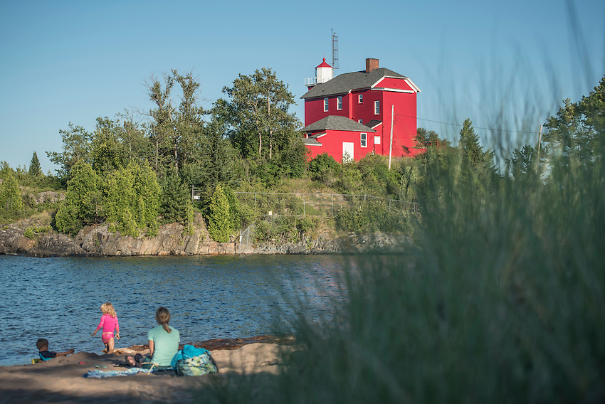 Beach life at McCarty Cove in Marquette, Michigan.