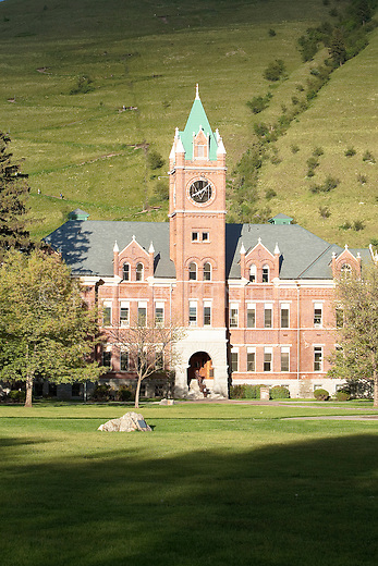 Main Hall on the University of Montana campus in Missoula, Montana