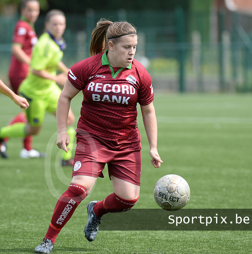 20150808 - ZULTE , BELGIUM : Zulte's Anke De Vos pictured during a friendly soccer match between the women teams of Zulte-Waregem and RSC Anderlecht  , during the preparations for the 2015-2016 SUPERLEAGUE season, Saturday 8 August 2015 . PHOTO DAVID CATRY