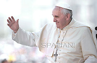 Pope Francis during his weekly general audience in St. Peter square at the Vatican, Wednesday.May 21, 2014.
