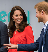 HAYES, UNITED KINGDOM - APRIL 20: Catherine, Duchess of Cambridge, Prince Harry attends the official opening of The Global Academy in support of Heads Together on April 20, 2017 in Hayes, England. <br /> CAP/JOR<br /> &copy;JOR/Capital Pictures /MediaPunch ***NORTH AND SOUTH AMERICAS ONLY***