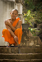 Laos is predominately a Theravada Buddhist country. Many will join the monastery for a period of time to gain merit for their families and themselves. Some stay for a short time and others will choose to devote their lives to their religion.
