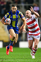 Picture by Alex Whitehead/SWpix.com - 16/03/2017 - Rugby League - Betfred Super League - Leigh Centurions v Warrington Wolves - Leigh Sports Village, Leigh, England - Warrington's Ryan Atkins is tackled by Leigh's Glenn Stewart.