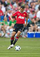 July 16, 2010 Ryan Giggs No. 11 of Manchester United during an international friendly between Manchester United and Celtic FC at the Rogers Centre in Toronto.