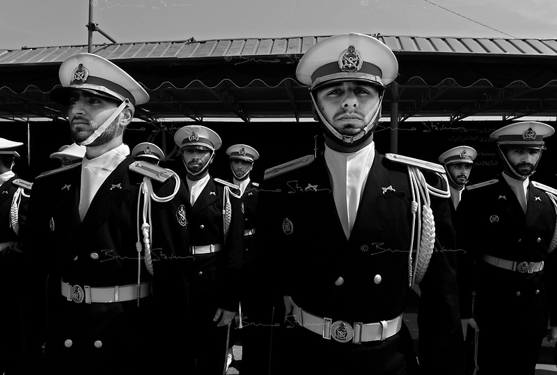 Teheran, Iran, April 18, 2007.Military parade in front of Ayatollah Khomeiny's grave for the Iranian Army day.
