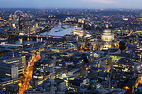 St. Paul's Cathedral, view from Vertigo 42, City, London, Great Britain, UK