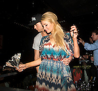 Paris Hilton & River Viiperi partying in Knokke-Le-Zoute in Belgium