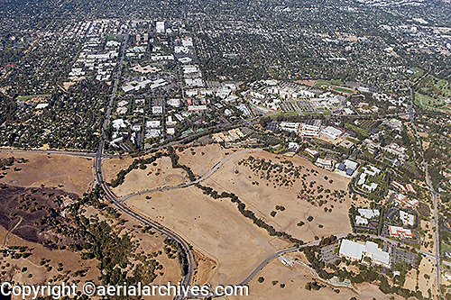 aerial photograph Stanford Research Park, Palo Alto, Santa Clara county, California