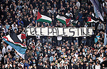 "Calcio, Europa League Gruppo J: Lazio vs Tottenham Hotspur. Roma, stadio Olimpico, 22 novembre 2012..Lazio fans hold a banner reading ""Free Palestine"" and Palestinian flags during the Europa League Group J football match between Lazio and Tottenham Hotspur at Rome's Olympic stadium, 22 November 2012..UPDATE IMAGES PRESS/Riccardo De Luca"