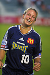 18 June 2003: Aly Wagner of the San Diego Spirit. The WUSA All-Star Skills Competition was held at SAS Stadium in Cary, NC.
