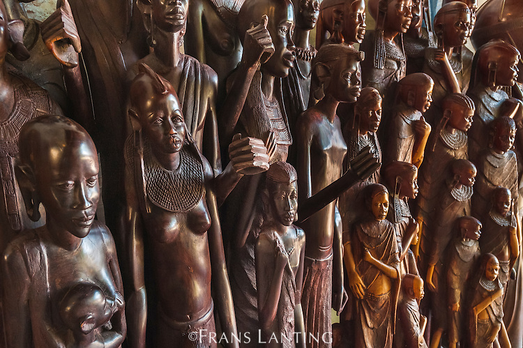 Wood carvings for sale in gift shop, Arusha, Tanzania