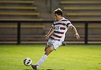 STANFORD, CA - September 12, 2012: Stanford forward Bobby Edwards (19) during the Stanford vs San Jose St. men's soccer match in Stanford, California. Final score, Stanford 2, San Jose St. 1 in overtime.